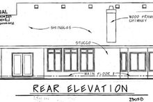 Dream House Plan - Traditional Exterior - Rear Elevation Plan #20-1603