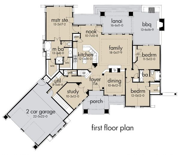 Storybook craftsman house plan by David wiggins - 2100sft