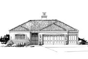 Adobe / Southwestern Style House Plan - 3 Beds 3.5 Baths 2090 Sq/Ft Plan #942-48 Exterior - Front Elevation