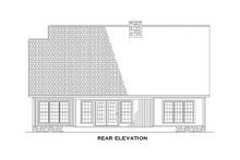 Traditional design with Craftsman details rear elevation