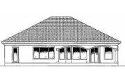 Mediterranean Style House Plan - 4 Beds 3 Baths 2581 Sq/Ft Plan #27-256 Exterior - Rear Elevation