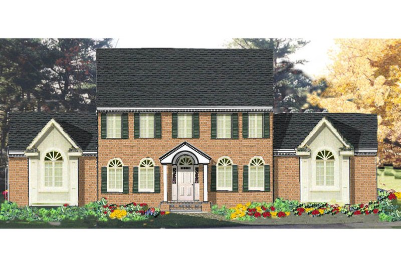 Dream House Plan - Colonial Exterior - Front Elevation Plan #3-184