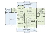 Country Style House Plan - 5 Beds 3 Baths 2698 Sq/Ft Plan #17-205 Floor Plan - Main Floor Plan