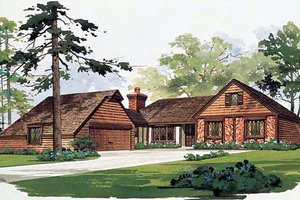 Traditional Exterior - Front Elevation Plan #72-443
