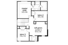 Traditional Floor Plan - Upper Floor Plan Plan #84-554