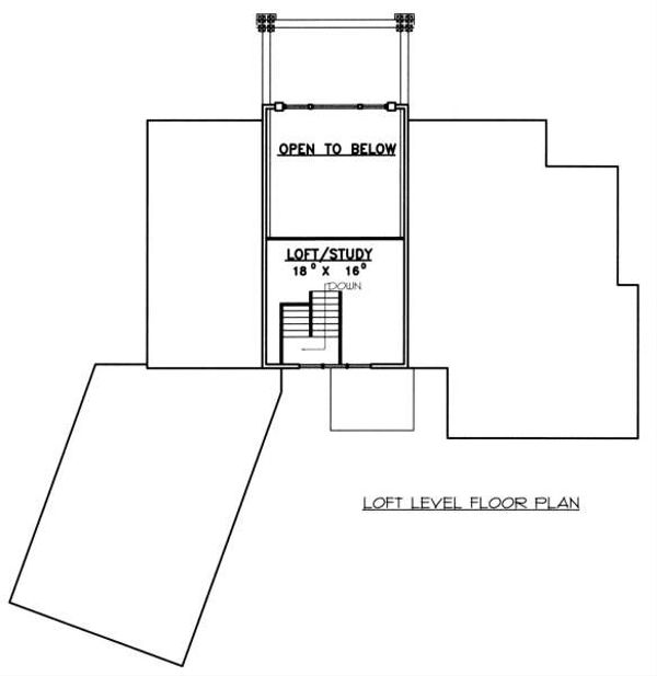 Bungalow Floor Plan - Upper Floor Plan Plan #117-574