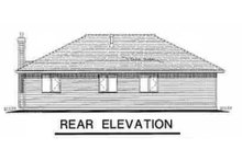 House Blueprint - Traditional Exterior - Rear Elevation Plan #18-1018