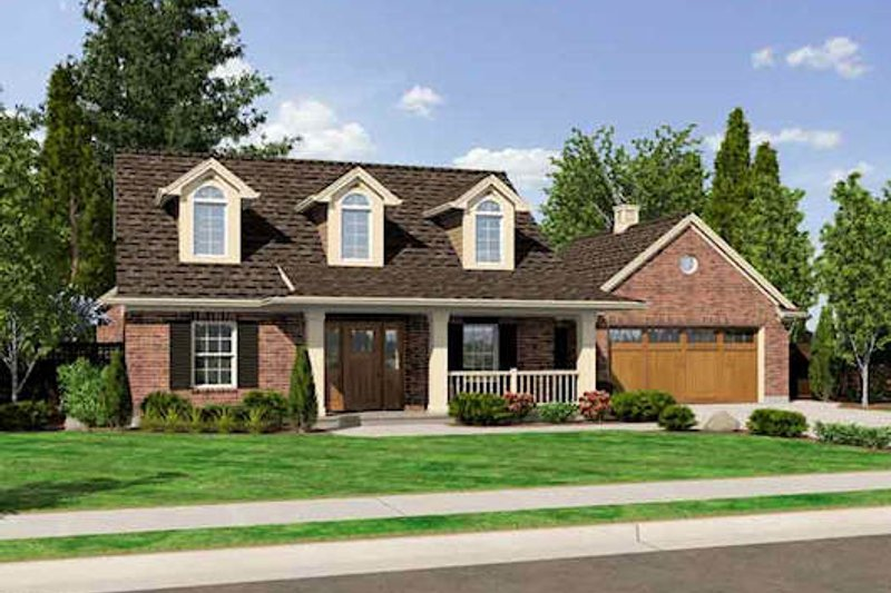 Country Style House Plan - 3 Beds 2.5 Baths 1808 Sq/Ft Plan #46-478 Exterior - Front Elevation