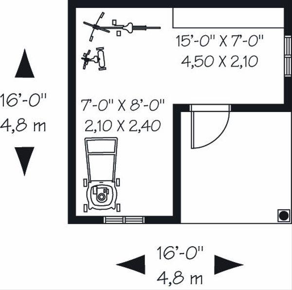 Cottage Floor Plan - Main Floor Plan Plan #23-759