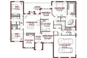 Traditional Style House Plan - 4 Beds 2.5 Baths 2420 Sq/Ft Plan #63-201 Floor Plan - Main Floor Plan