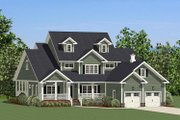Farmhouse Style House Plan - 4 Beds 3.5 Baths 2715 Sq/Ft Plan #898-20 Exterior - Front Elevation