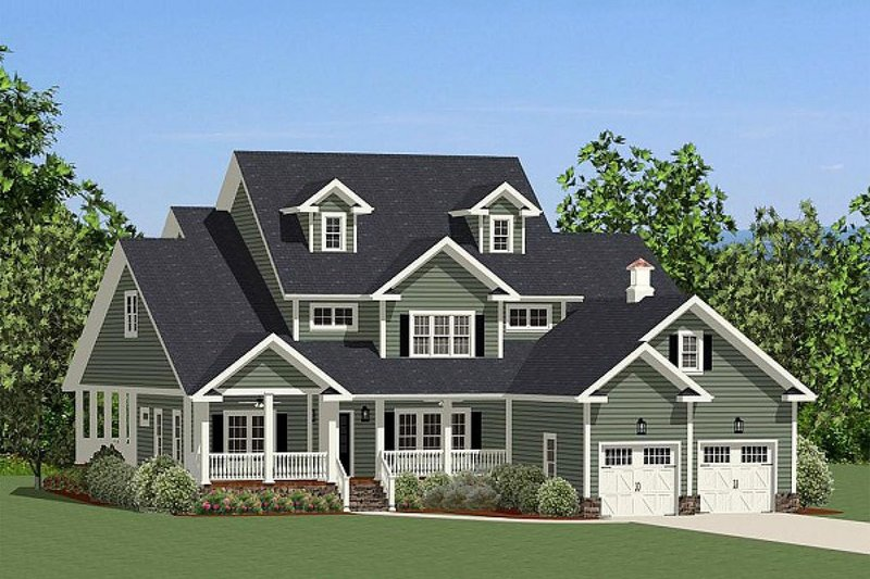 Farmhouse Exterior - Front Elevation Plan #898-20