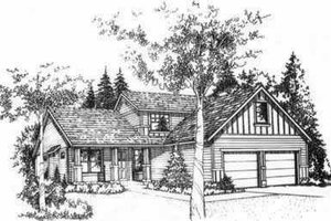 Traditional Exterior - Front Elevation Plan #78-211