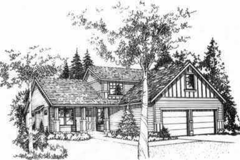 Traditional Style House Plan - 2 Beds 2.5 Baths 1835 Sq/Ft Plan #78-211 Exterior - Front Elevation