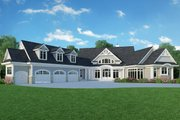 Ranch Style House Plan - 3 Beds 2.5 Baths 3188 Sq/Ft Plan #929-655 Exterior - Front Elevation
