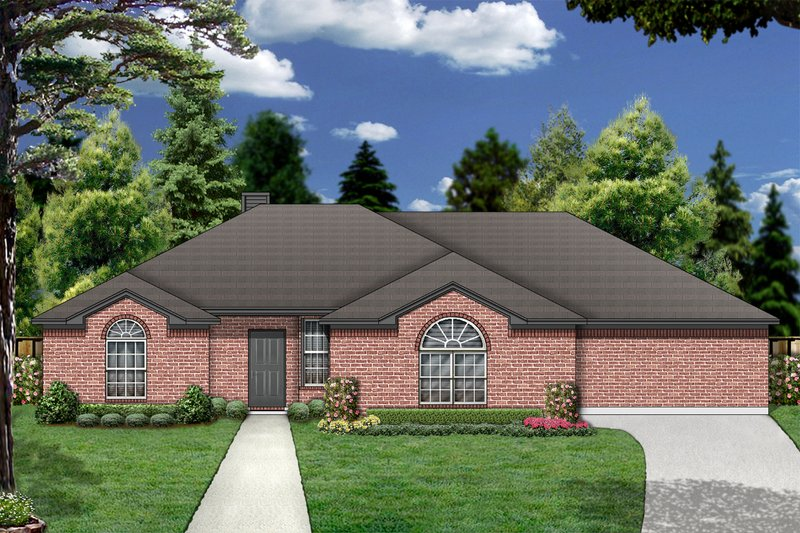 Dream House Plan - Traditional Exterior - Front Elevation Plan #84-359