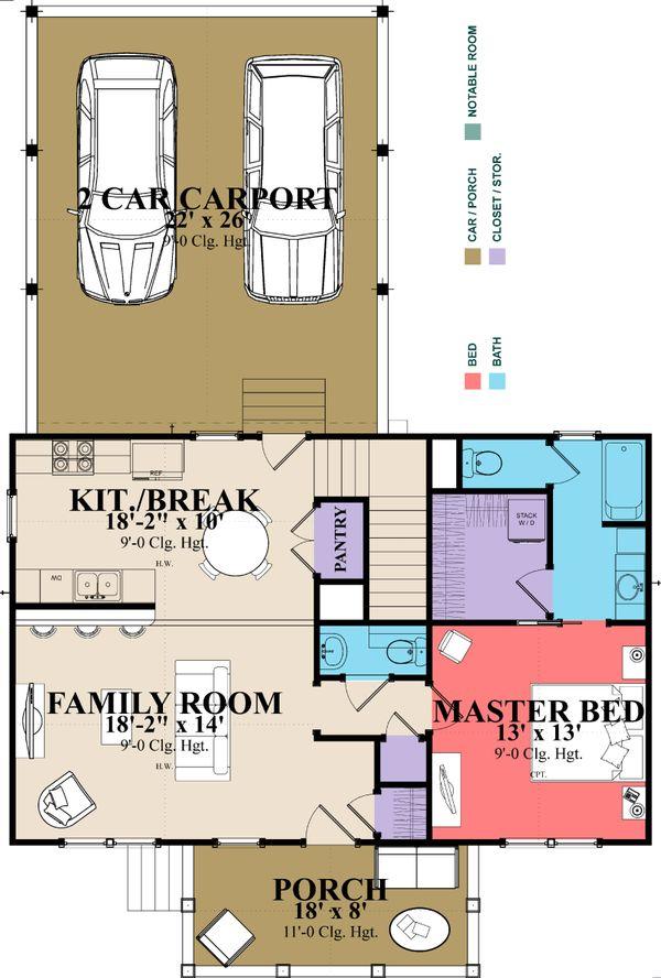 Classical Floor Plan - Main Floor Plan Plan #63-401