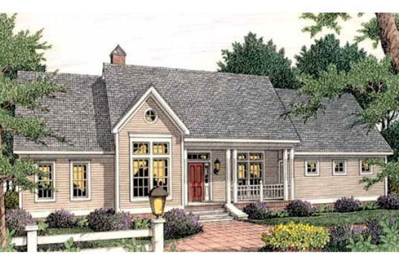Farmhouse Style House Plan - 4 Beds 2 Baths 2093 Sq/Ft Plan #406-271 Exterior - Front Elevation
