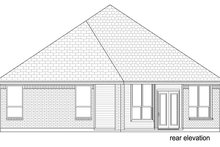 Home Plan - Traditional Exterior - Rear Elevation Plan #84-577