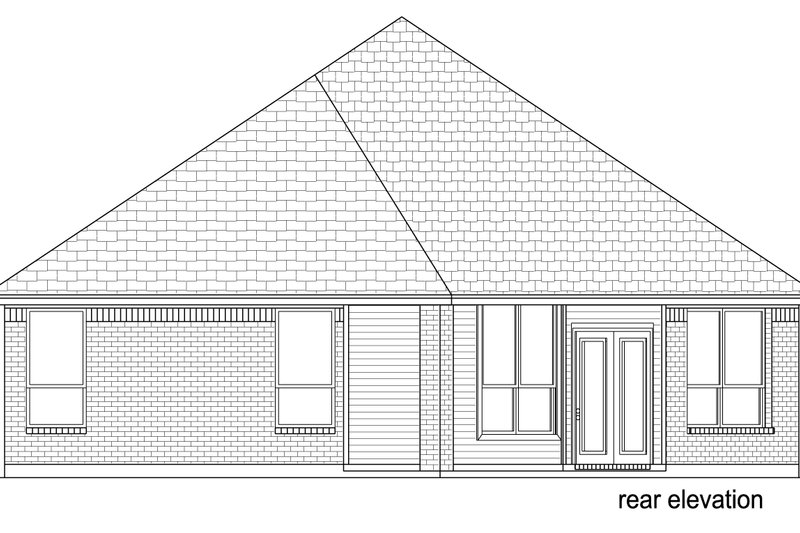 Traditional Exterior - Rear Elevation Plan #84-577 - Houseplans.com
