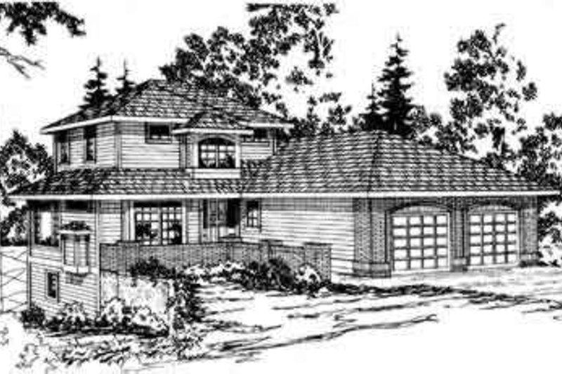 Modern Exterior - Front Elevation Plan #124-265