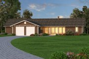 Ranch Style House Plan - 3 Beds 2.5 Baths 2338 Sq/Ft Plan #445-5 Exterior - Front Elevation