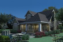 Dream House Plan - Traditional Exterior - Rear Elevation Plan #120-166