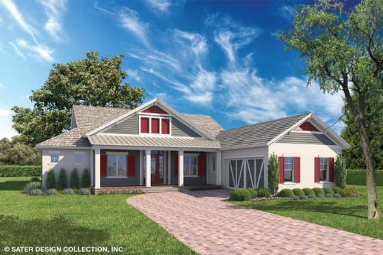 House Blueprint - Ranch Exterior - Front Elevation Plan #930-468