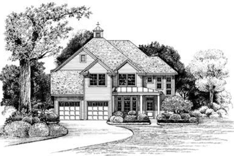 Traditional Exterior - Front Elevation Plan #20-844 - Houseplans.com