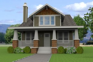 Craftsman Exterior - Front Elevation Plan #461-46
