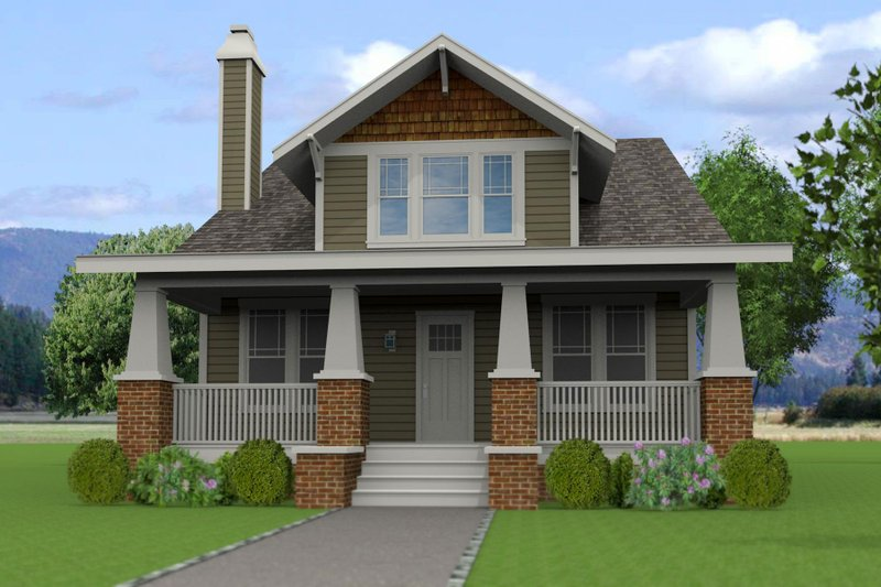 Craftsman Style House Plan - 5 Beds 3 Baths 2175 Sq/Ft Plan #461-46 Exterior - Front Elevation
