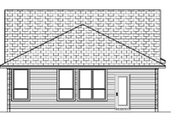 Craftsman Style House Plan - 3 Beds 2 Baths 1163 Sq/Ft Plan #84-285 Exterior - Rear Elevation
