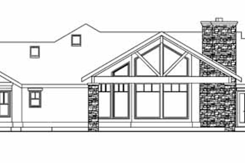 Ranch Exterior - Other Elevation Plan #124-705 - Houseplans.com