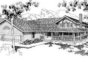 Traditional Style House Plan - 3 Beds 2.5 Baths 2598 Sq/Ft Plan #60-315 Exterior - Front Elevation