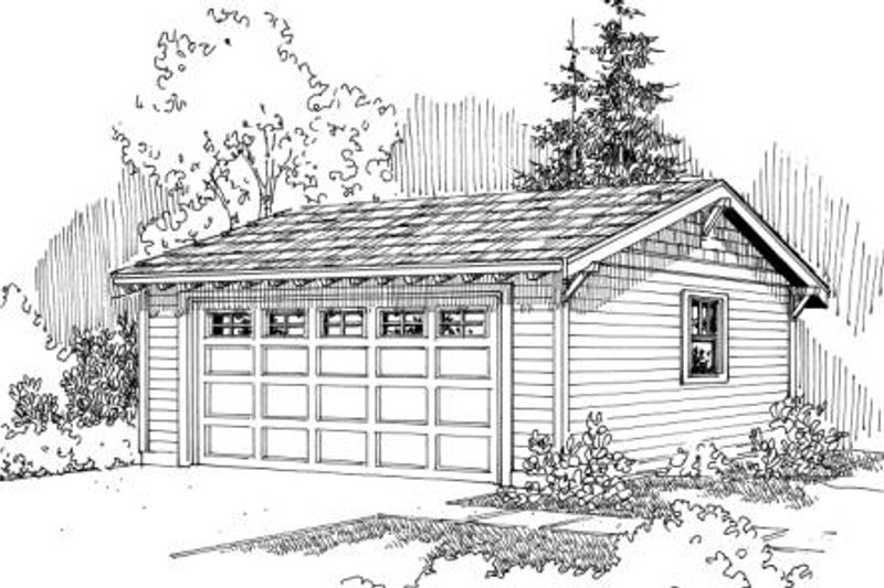 Traditional Exterior - Front Elevation Plan #124-637 - Houseplans.com