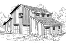House Plan Design - barn garage with stalls and/or garage below and large room above.