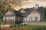 Craftsman Style House Plan - 2 Beds 2 Baths 1441 Sq/Ft Plan #23-2692 Exterior - Front Elevation