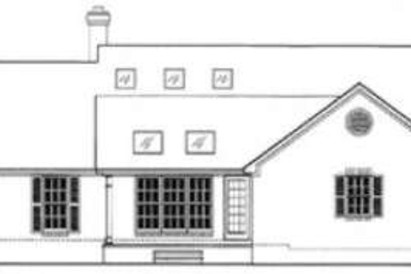 Traditional Exterior - Rear Elevation Plan #406-184 - Houseplans.com