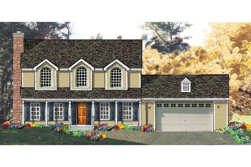 Architectural House Design - European Exterior - Front Elevation Plan #3-169