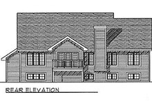 House Plan Design - Traditional Exterior - Rear Elevation Plan #70-211