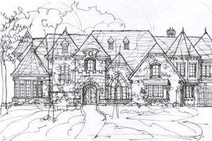 Tudor Exterior - Front Elevation Plan #141-281