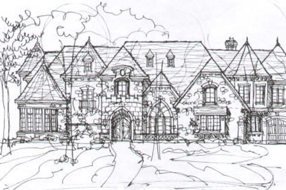 Tudor Exterior - Front Elevation Plan #141-281