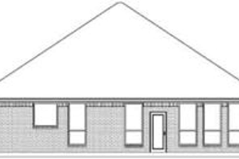 Traditional Exterior - Rear Elevation Plan #84-178 - Houseplans.com