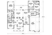 Craftsman Style House Plan - 3 Beds 3 Baths 2393 Sq/Ft Plan #20-164 Floor Plan - Main Floor