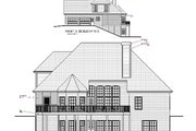 European Style House Plan - 4 Beds 3 Baths 2253 Sq/Ft Plan #56-178 Exterior - Rear Elevation