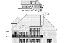 Home Plan - European Exterior - Rear Elevation Plan #56-178