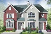 Colonial Style House Plan - 2 Beds 1.5 Baths 2612 Sq/Ft Plan #25-310 Exterior - Front Elevation