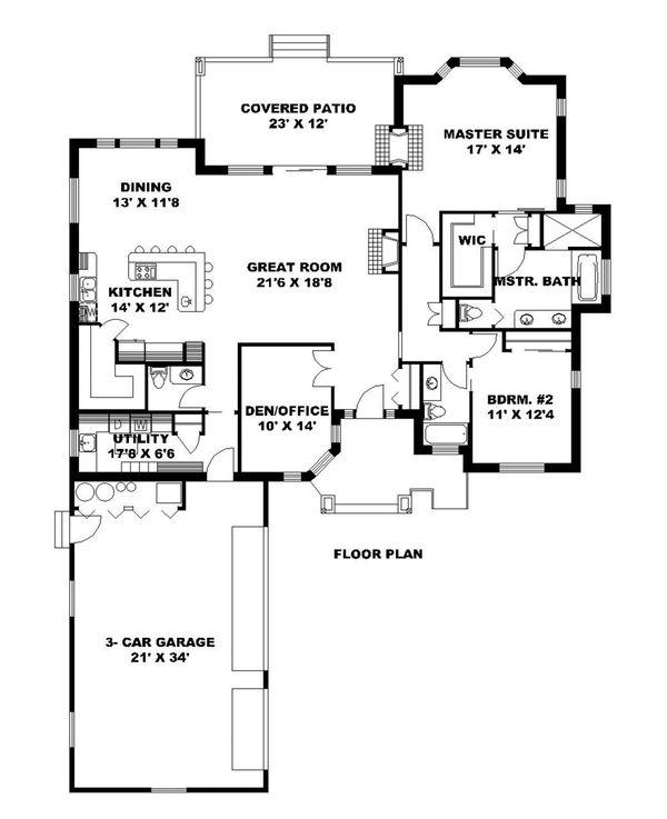 Ranch Floor Plan - Main Floor Plan Plan #117-872