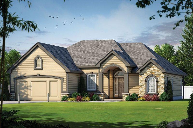 Dream House Plan - European Exterior - Front Elevation Plan #20-1380