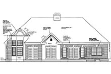House Plan Design - Country Exterior - Rear Elevation Plan #3-244